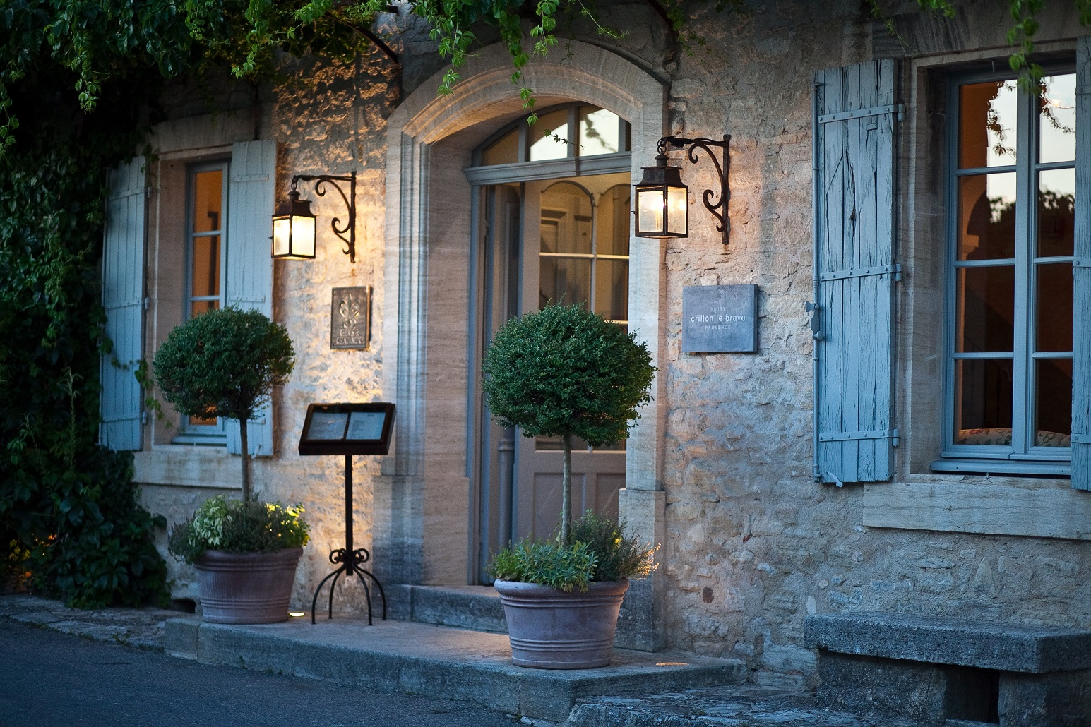 hotel crillon le brave in provence france white blancmange. Black Bedroom Furniture Sets. Home Design Ideas