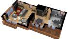 Courchevel Chalet Overview Floorplan 1