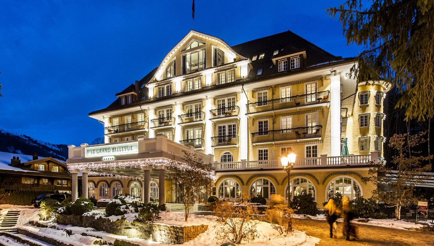 Hotel le grand bellevue in gstaad switzerland white for Le grand hotel